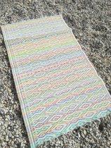Strandmatje multi color / tuin mat 1.30 x 0.70 cm