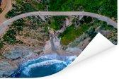 Bixby Creek en Bixby Creek Bridge in Big Sur Amerika Poster 90x60 cm - Foto print op Poster (wanddecoratie woonkamer / slaapkamer)