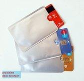 Ikoop & Proclaims © Bankpas OV-ID kaart beschermer - RFID blocker Zilver 10 stuks