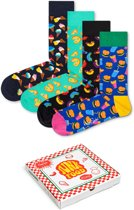 Happy Socks - Junkfood Giftbox - pizza, hotdog, hamburger - Maat 36-40