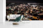 Fotobehang vinyl - Luchtfoto van het Noord-Amerikaanse San Antonio in de nacht breedte 535 cm x hoogte 300 cm - Foto print op behang (in 7 formaten beschikbaar)