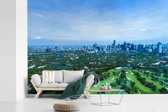 Fotobehang vinyl - Uitzicht vanaf een heuvel over Manila breedte 390 cm x hoogte 260 cm - Foto print op behang (in 7 formaten beschikbaar)