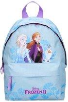Disney Frozen 2 rugtas/schooltas Elsa Anna en Olaf 31 x 22 cm voor meisjes - Schooltas/gymtas/reistas voor kinderen