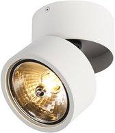 QAZQA go nine tubo - Plafond spot - 1 lichts - Ø 120 mm - Wit