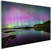 Waanzinnig noorderlicht in IJsland Glas 120x80 cm - Foto print op Glas (Plexiglas wanddecoratie)
