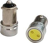 Auto LEDlamp 2 stuks   LED BA9S kentekenverlichting   high power xenon wit 6000K   12V