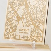 Kaart Utrecht -  Gegraveerde stadskaart Hood&Wood - Hout, A4