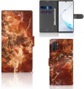 Bookcase Samsung Galaxy Note 10 Plus Marmer Bruin