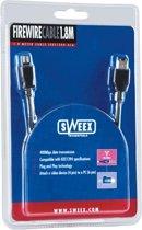 Sweex Firewire Cable 4P/6P 1.8M 1,8 m