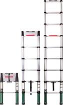 VONROC 2.6m Professionele Telescopische ladder met softclose - Veilig en solide
