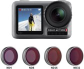 PRO SERIES 4-Pack ND Lens Filter Set Voor DJI OSMO Action Camera