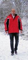 KWD Coachjas Fresco - Rood/zwart/wit - Maat S