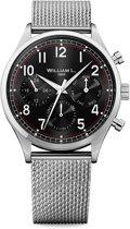 William L. 1985 WLAC03NRMM horloge heren - zilver - edelstaal