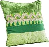 Kare Kussen Groen Ornament vierkant