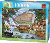 King Puzzel 1000 Stukjes (68 x 49 cm) - Ark van Noah - Legpuzzel Dieren