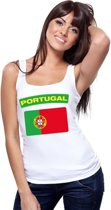 Singlet shirt/ tanktop Portugese vlag wit dames M