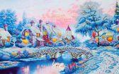Diamond Dotz ® painting Winter Village (79x50 cm) - Diamond Painting