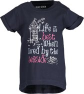 Blue Seven Meisjes T-shirt - donkerblauw - Maat 86