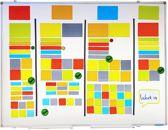 Scrum Whiteboard Magneten - 61 delig - Agile werken met Post Its - Magnetisch Tape - Scrum Mega Set