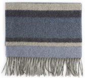 Wollen Sjaal - Zachte blauwe sjaal - Warme wintersjaal