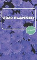 2020 Planner For Purse: January 2020 - December 2020 - Monthly Dated With Year At A Glance and Notes Pages (Gift Calendar) (Purple Floral)