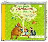 Der große Jahreszeitenschatz (4 CD). Mit Geschichten, Liedern und Gedichten von Kirsten Boie, Cornelia Funke, James Krüss, Astrid Lindgren