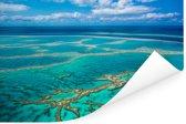 Groot rif in het turquoise water bij de Whitsundayeilanden Poster 120x80 cm - Foto print op Poster (wanddecoratie woonkamer / slaapkamer)