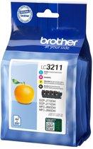 Brother LC-3211VAL inktcartridge Origineel Zwart, Cyaan, Magenta, Geel Multipack