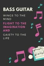 Bass guitar Wings to the mind Flight to the imagination and Gaiety to the life
