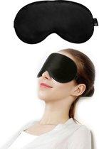 SIMIA™ Premium Zijden Slaapmasker - Luxe Verstelbare Reismasker - Slaapbril - Organic Satin - Nachtmasker - Oogmasker - Blinddoek - Meditatie - Yoga - Slaap - Reis - Zijde - Zijdezacht - Anti Rimpel - Cadeau Tip - Zwart