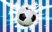 Fotobehang Voetbal | Blauw, Wit | 416x254