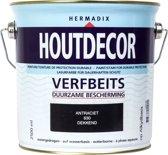 Hermadix Houtdecor Verfbeits dekkend - 2,5 liter - 630 Antraciet