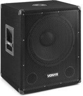 Vonyx SMWBA15MP3 actieve 600W subwoofer met Bluetooth en uitgangen voor twee passieve speakers