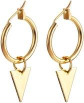 Triangle earrings - Triangle earring - Driehoek oorbellen - Goudkleurig