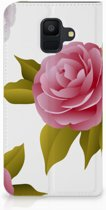 Samsung Galaxy A6 (2018) Uniek Standcase Hoesje Roses
