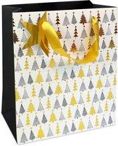 Luxe cadeautas Kerstboom - 18x21x8cm - C1622-18614-1