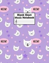 Blank Sheet Music Notebook