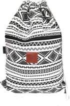 Rugtas Curvy | T-Bags | 100% Katoen | 14 Liter | Zwart & Wit | Comfortabel