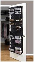 Schoenenrek Voor Deur - Schoenenkast - Schoenen Opbergen - Geschikt voor 26 paar schoenen - Zwart