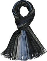 Michaelis heren sjaal - blauw met grijs gestreept