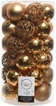 Kerstballen Mix (6cm) 37 Stuks Messing Goud
