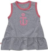 Minymo - newborn baby  jurk - model Fida - grijs roze - Maat 86