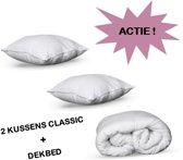 Dekbed 200 x 200 + 2 Classic Pillow