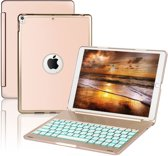 iPad Pro 10.5 Toetsenbord hoesje - CaseBoutique Bluetooth Keyboard Case - Goud - Aluminium - QWERTY indeling