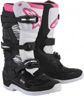 Alpinestars Dames Crosslaarzen Tech 3 Stella Black/White/Pink-41 (EU)