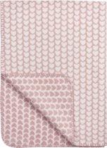 Meyco Knitted Heart wiegdeken - 75x100cm - Roze