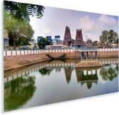Tempel bij het water in Chennai Plexiglas 120x80 cm - Foto print op Glas (Plexiglas wanddecoratie)