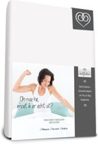 Bed-Fashion Mako Jersey hoeslakens de luxe 120 x 210 cm wit