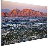 Las Vegas en omgeving Aluminium 90x60 cm - Foto print op Aluminium (metaal wanddecoratie)