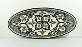 Handgemaakte en handbeschilderde authentieke Marokkaanse ovale schaal 30 cm